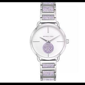 NWT Michael Kors Purple Silver Watch
